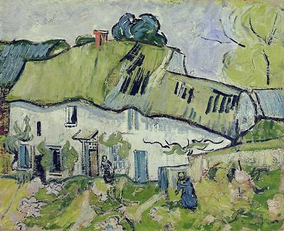 Vincent van Gogh, Farmhouse with Two Figures, Hand Painted Canvas Oil Painting