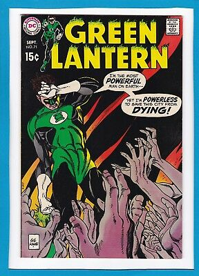 "Green Lantern #71_September 1969 Very Fine_""the City That Died""_Silver Age Dc!"