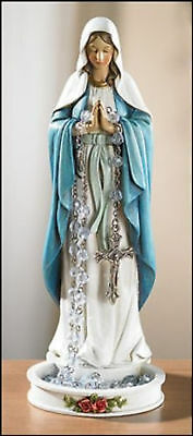 Our Lady of Grace Rosary Holder Mother Mary Statue