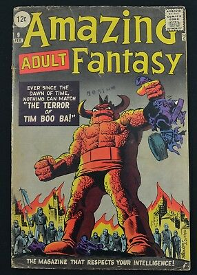 Amazing Adult Fantasy Comic Book #9 Feb 1962 Steve Ditko Cover Ungraded Lee