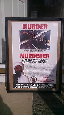 Osama Bin Laden Wanted Poster- Issued By the US State Dept 1999. Collectible!