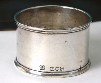 Unengraved Victorian Solid Silver Napkin Ring - Ldon 1898 - Hukin & Heath