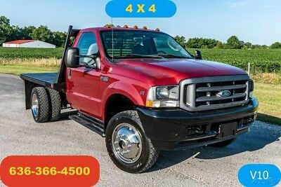 2003 Ford F450 XL Used flatbed 4wd V10 manual work farm good tires and truck