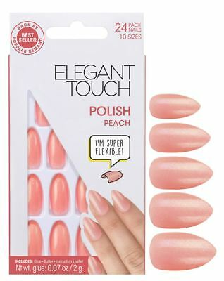 Elegant Touch Faux Ongles - Poli Pêche (24 Ongles)
