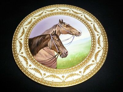 Rare Vienna Marked Porcelain Cabinet Plate Signed By Charles Pohl C1900