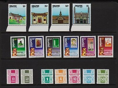 Singapore - 2 Mint, NH sets + postage due stamps, cat. $ 35.75