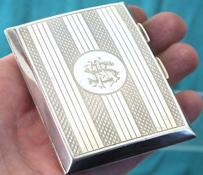 Fine Solid Silver Curved Back Cigarette Case - Ldon 1924 - John Thompson & Sons