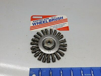 "4"" Anderson Knotted Wire Wheel Brush"