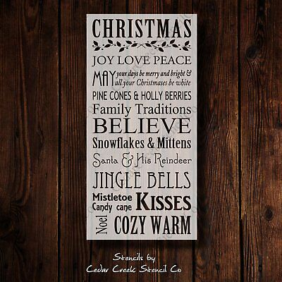 Christmas Typography Stencil