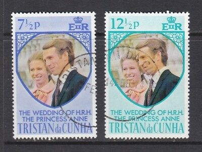 Tristan da Cunha 1973 Royal Wedding Pair Used