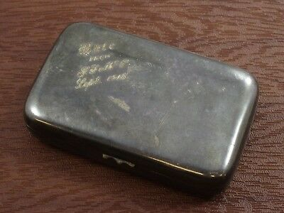 """Walrous MFG Co. Pill Box Vintage Engraved Metal """"046"""""""