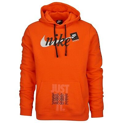 Nike Just Do It JDI Club hoodie pullover Off-White vibes orange Large