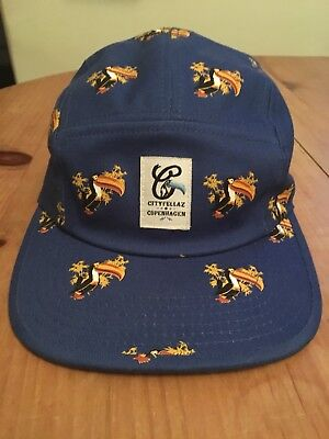 d4130cb2c22 Rare New Cityfellaz 5 Five Panel Cap - Blue Toucan - Like Norse Projects HUF