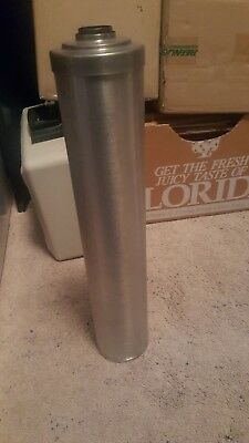 "Stainless Steel Darkroom Large 17"" Film Developing Tank made by omega w/used box"
