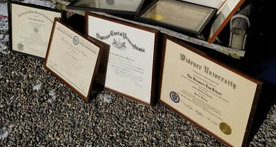 Lot of 9 Framed Documents - US Supreme Court & District Court - Lawyers & Legal