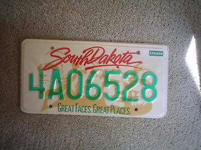 South Dakota Faces   License Plate    Buy All States Here