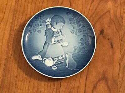 1985 Barnets Dag Copenhagen Children's Day The Magical Tea Party Plate Porcelain