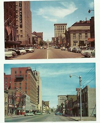 Fayetteville Street, Looking North, Raleigh, North Carolina (Pair of Postcards)