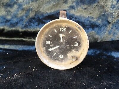Vintage Clasic Car 12 Volt Clock By Borg, For  Spares Or Repair