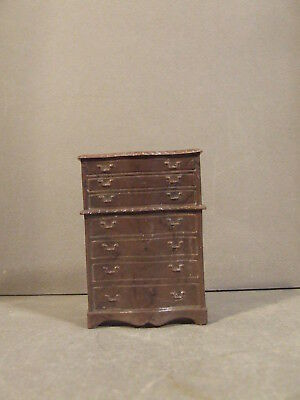 Vintage Miniature Dollhouse Furniture Toy Plastic Chest Of Drawers