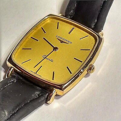 Vintage Longines Mens Watch In Excellent Condition Gold Filled Gold Dial Vgc