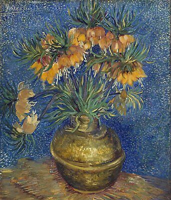 Vincent van Gogh Crown Imperials in Copper Vase Hand Painted Canvas Oil Painting