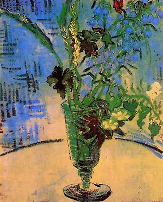 Vincent van Gogh, Flowers in a Vase, 1890, Hand Painted Canvas Oil Painting