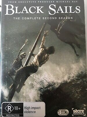 BLACK SAILS - Season 2 4 x DVD Set AS NEW! Complete Second Series Two