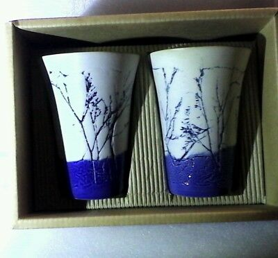 Tenmoku Pottery Malaysia's Unique Tm357F - Cup Set New In Original Box