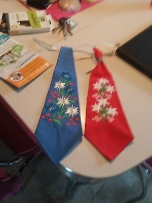 2 Brand New German Octoberfest Ties, From Ernst Licht Oley Pa