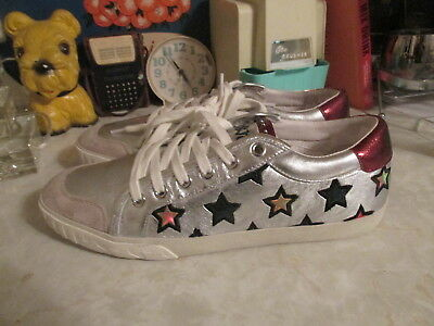 02874696bff85 ASH MAJESTIC STARS Womens Trainers Leather Shoes NEW Size 37 UK4 ...