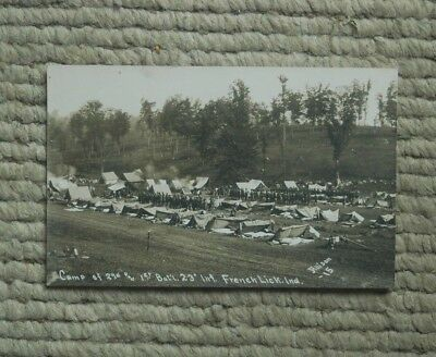 23rd Infantry Division at French Lick Springs Hotel 1912 Postcard (RPPC) Photo