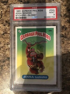 Garbage Pail Kids Series 1 Anna Banana 34b PSA Graded 9 Glossy MINT