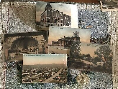 5 Fred Harvey Hand Colored Postcards