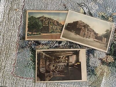3 Fred Harvey Santa Fe Postcards Hopi House Grand Canyon Az