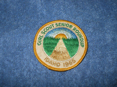 Girl Scout Senior Roundup Idaho 1965 patch badge girl scouts round up