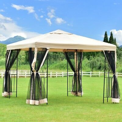 10' x 10' Patio Gazebo Canopy Shelter Patio Wedding Party Tent Outdoor Awning US