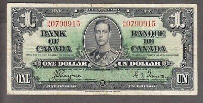 1937 Bank of Canada - $1.00 - Coyne Towers - Fine - O/N 0790915