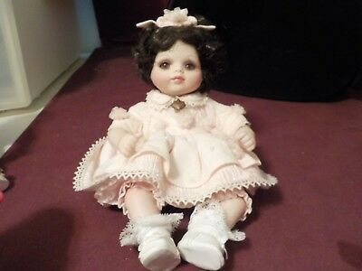 Adorable Little 2004 Marie Osmond Doll Pink Dress Beautiful Eyes/lashes #333