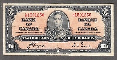 1937 Bank of Canada - $2.00 Bank Note - Coyne Towers - Very Fine - L/R 1501250