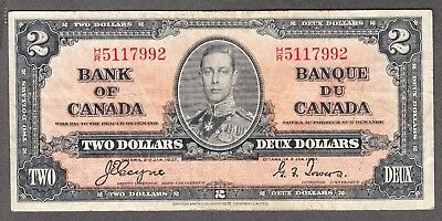 1937 Bank of Canada - $2.00 Bank Note - Coyne Towers - Very Fine - H/R 5117992