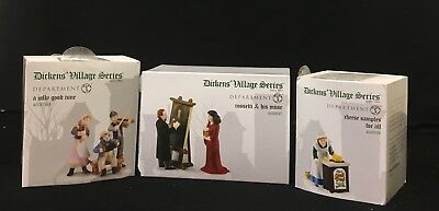 Department 56 Dickens Village Lot Of 3