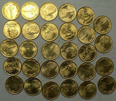 Chile 1 Peso Uncirculated Partial Roll ( 29 Coins )  L34
