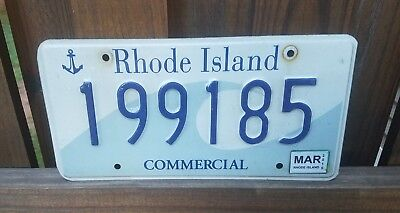 2010 Rhode Island Graphic Wave & Anchor  Ocean State License Plate Very Good Ri