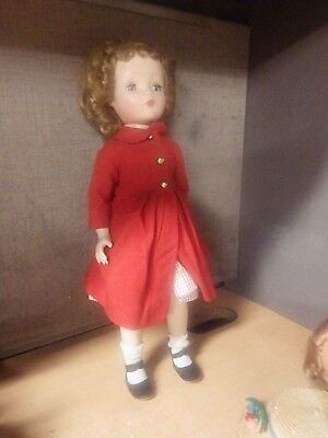 "Vintage Madame Alexander Doll Cissy Face Binnie Walker 17"" Tagged Dress"
