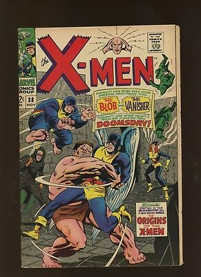 X-Men 38 FN/VF 7.0 * 1 Book Lot * Factor Three! Blob! Roy Thomas & Don Heck!