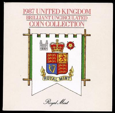 1987 United Kingdom Brilliant Uncirculated 7-Coin Set Beautiful Display