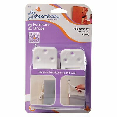 Dreambaby Baby / Child Safety Heavy Duty Furniture Wall Straps - 2 Pack