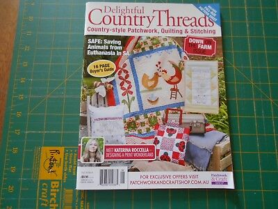 Delightful Country Threads Magazine - Vol 16 No 4 - (2015)  - Good Condition -