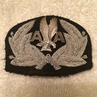 AMERICAN AIRLINES CAPTAINS BADGE WITH DETACHABLE WINGS 1970's